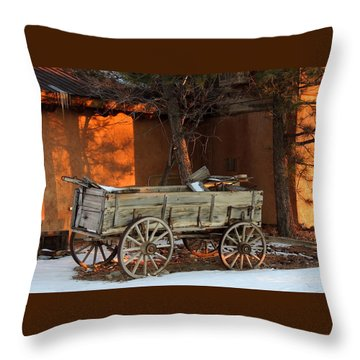 Sunset And Shadows Throw Pillow