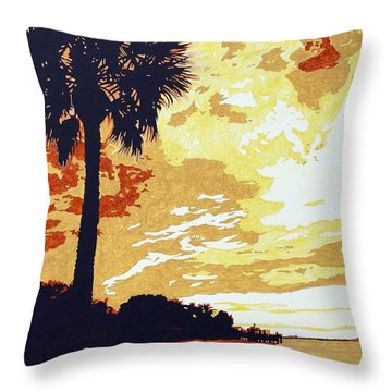 Sunset  Throw Pillow by Sheri Buchheit