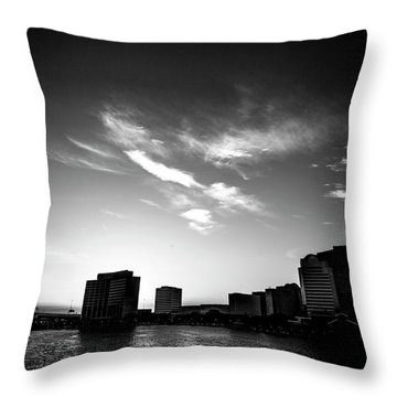 Throw Pillow featuring the photograph Sunset Silhouette by Eric Christopher Jackson