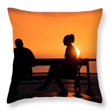 Sunset Silhouettes Throw Pillow