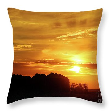 Sunset Silos Throw Pillow