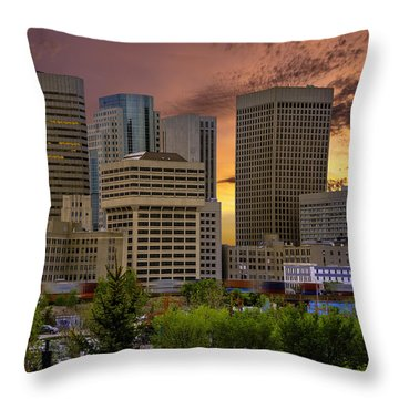 Sunset Skyline Throw Pillow