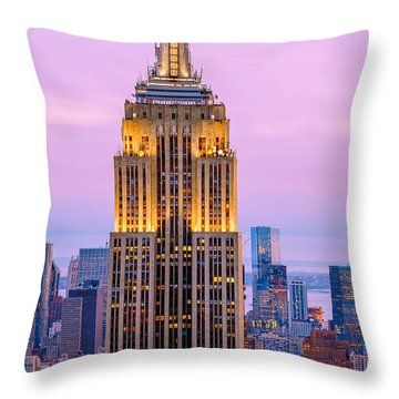 Sunset Skyscrapers Throw Pillow