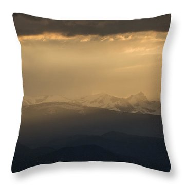 Throw Pillow featuring the photograph Sunset Softness by Colleen Coccia