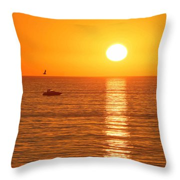 Sunset Solitude Throw Pillow by Ed Clark