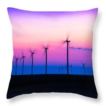 Sunset Spinning Throw Pillow