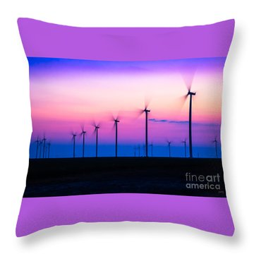 Sunset Spinning Throw Pillow