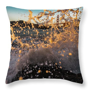 Sunset Splash Throw Pillow
