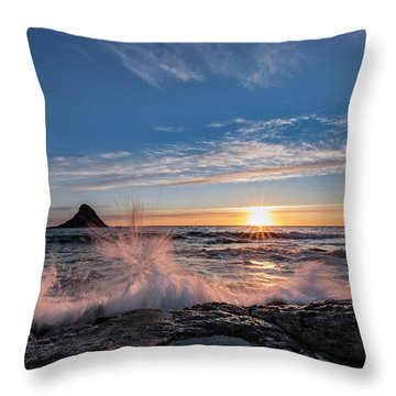 Sunset Splash II Throw Pillow