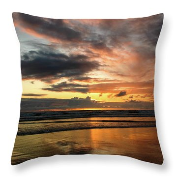 Sunset Split Throw Pillow