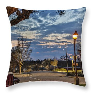 Sunset Square Throw Pillow