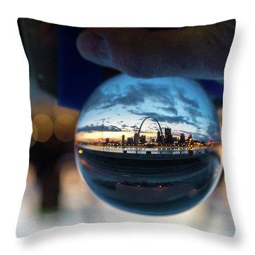 Sunset St. Louis II Throw Pillow