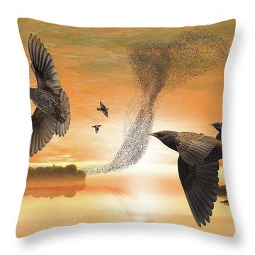 Murmuration Throw Pillow