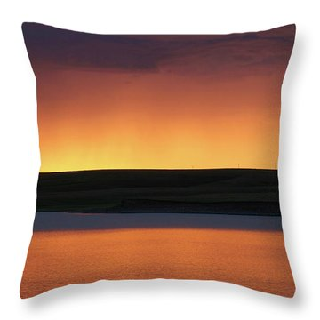 Throw Pillow featuring the photograph Sunset Storm by Heidi Hermes