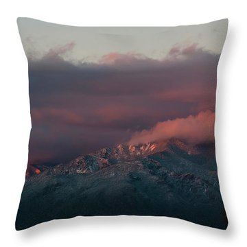 Sunset Storm On The Sangre De Cristos Throw Pillow