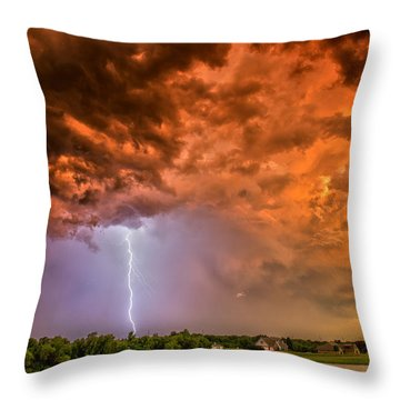 Sunset Strike Throw Pillow