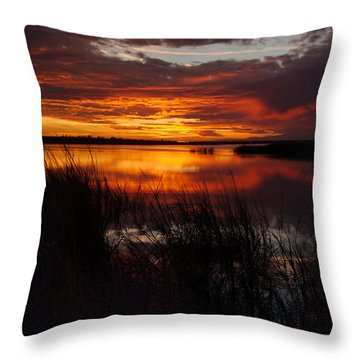 Throw Pillow featuring the photograph Sunset Sublime by Laura Ragland