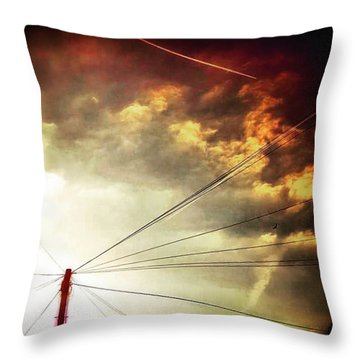 #sunset #sun #tagsforlikes.com #tflers Throw Pillow
