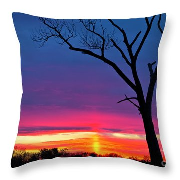 Sunset Sundog  Throw Pillow