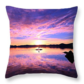 Sunset Supper Throw Pillow by Sean Sarsfield