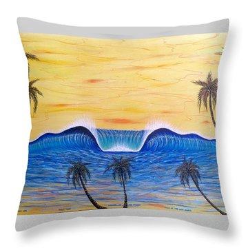 Sunset Surf Dream Throw Pillow