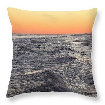 Sunset Surf Fishing Throw Pillow