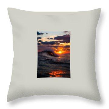 Sunset Surf Sesh Throw Pillow