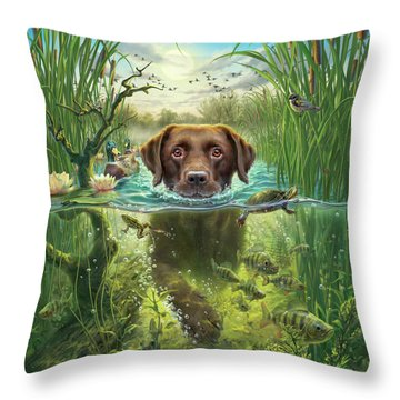 Golden Retriever Throw Pillows