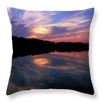 Throw Pillow featuring the photograph Sunset Swirl by Steve Stuller