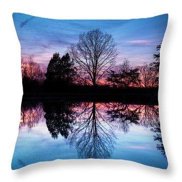 Sunset Symmetry Throw Pillow