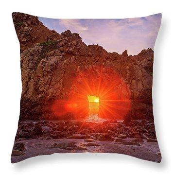 Sunset Through  Throw Pillow