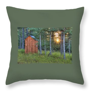 Throw Pillow featuring the photograph Sunset Through Spruce by Michele Cornelius