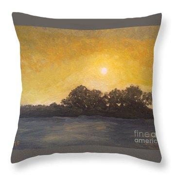 Sunset Through The Fog Throw Pillow