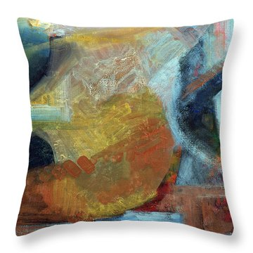 Sunset Thru Buildings Throw Pillow by Walter Fahmy