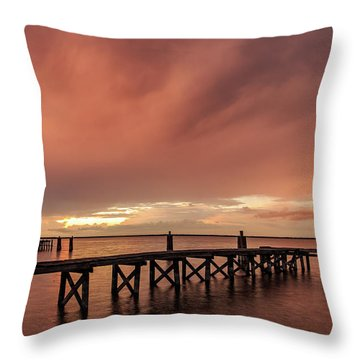 Sunset Thru Storm Clouds Throw Pillow