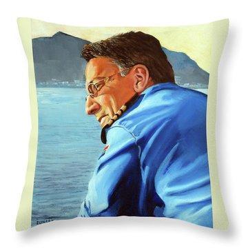 Sunset Throw Pillow by Tim Johnson