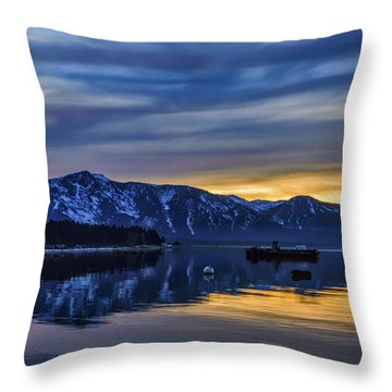 Sunset Timber Cove Throw Pillow by Mitch Shindelbower