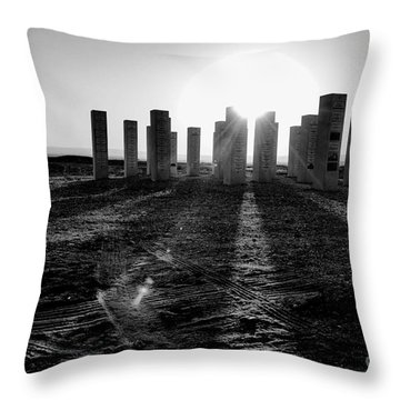 Sunset Time Throw Pillow by Arik Baltinester