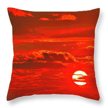 Sunset Throw Pillow by Tony Beck