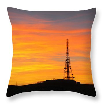 Sunset Tower Throw Pillow by RKAB Works