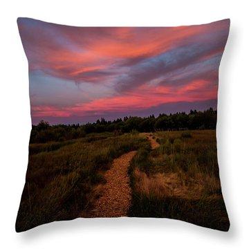 Sunset Trail Walk Throw Pillow