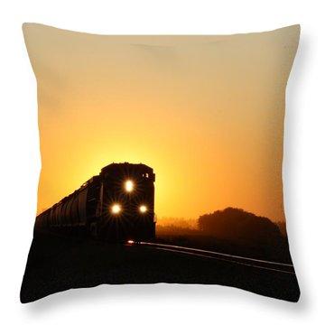 Sunset Express Throw Pillow