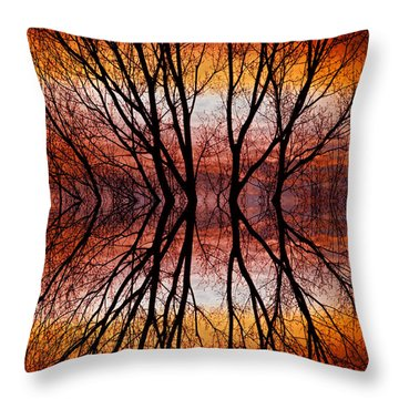 Sunset Tree Silhouette Abstract 2 Throw Pillow by James BO  Insogna