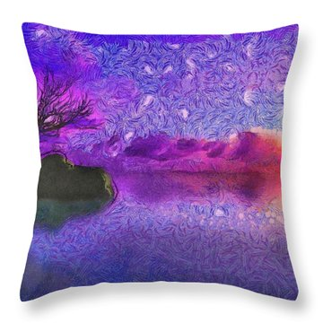 Sunset Tribute To Van Gogh Throw Pillow
