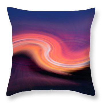 Sunset Twirl Throw Pillow