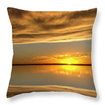 Sunset Under The Clouds Throw Pillow by Rob Graham