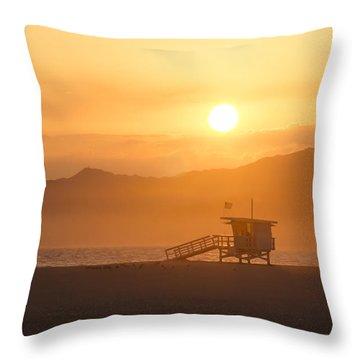 Sunset Venice Beach  Throw Pillow