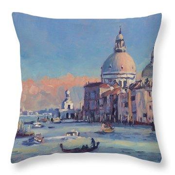 Sunset Venice Throw Pillow