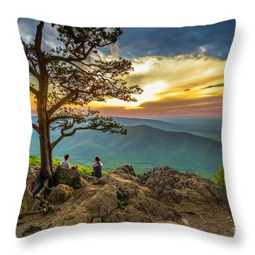 Sunset View At Ravens Roost Throw Pillow