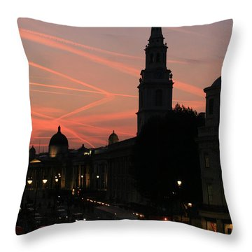 Throw Pillow featuring the photograph Sunset View From Charing Cross  by Paula Guttilla